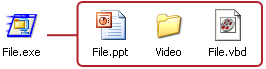 Files in Self-Extracting .EXE File