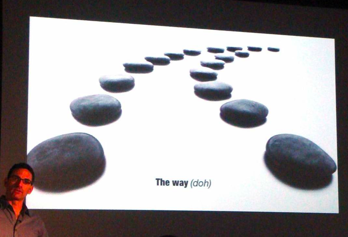 good design flow in presentation slide