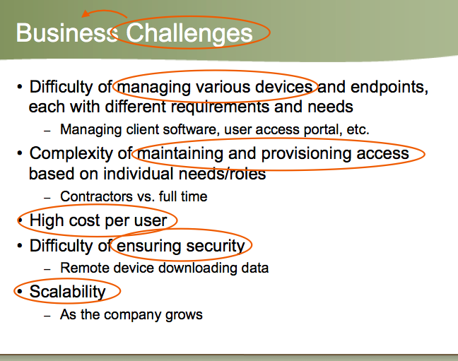 fixing text on Business Challenges slide