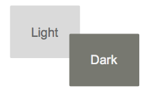 light and dark colors