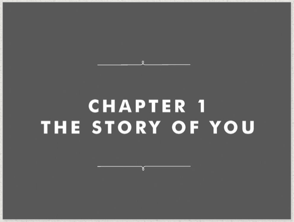 Chapter 1 The Story Of You
