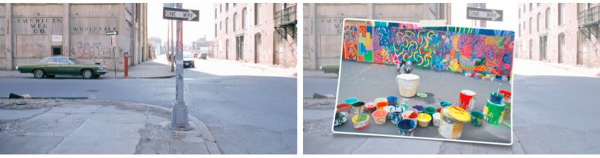create an art project on run down buildings