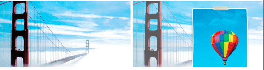 Golden Gate Bridge and hot air balloon