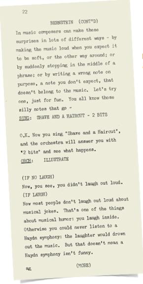 presentation notes from Bernstein