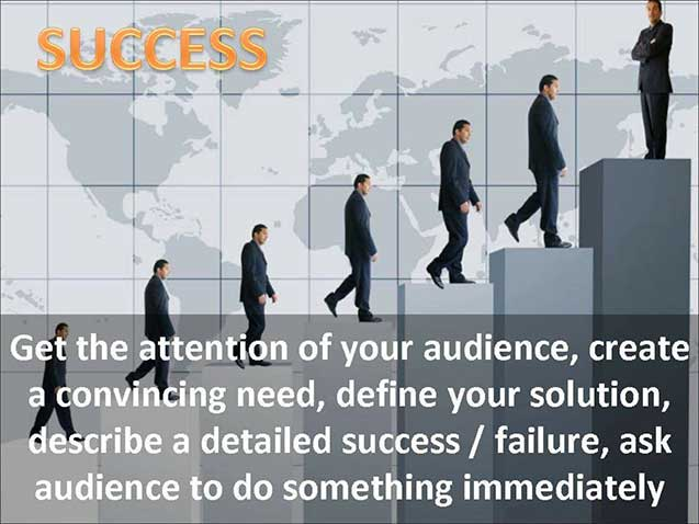 Success steps PPT slide