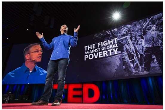 Gary Haugen using Duarte supported presentation