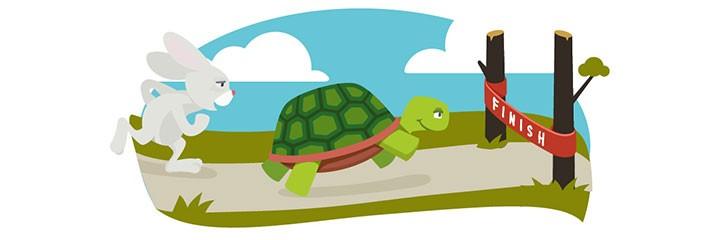 hare vs tortoise race